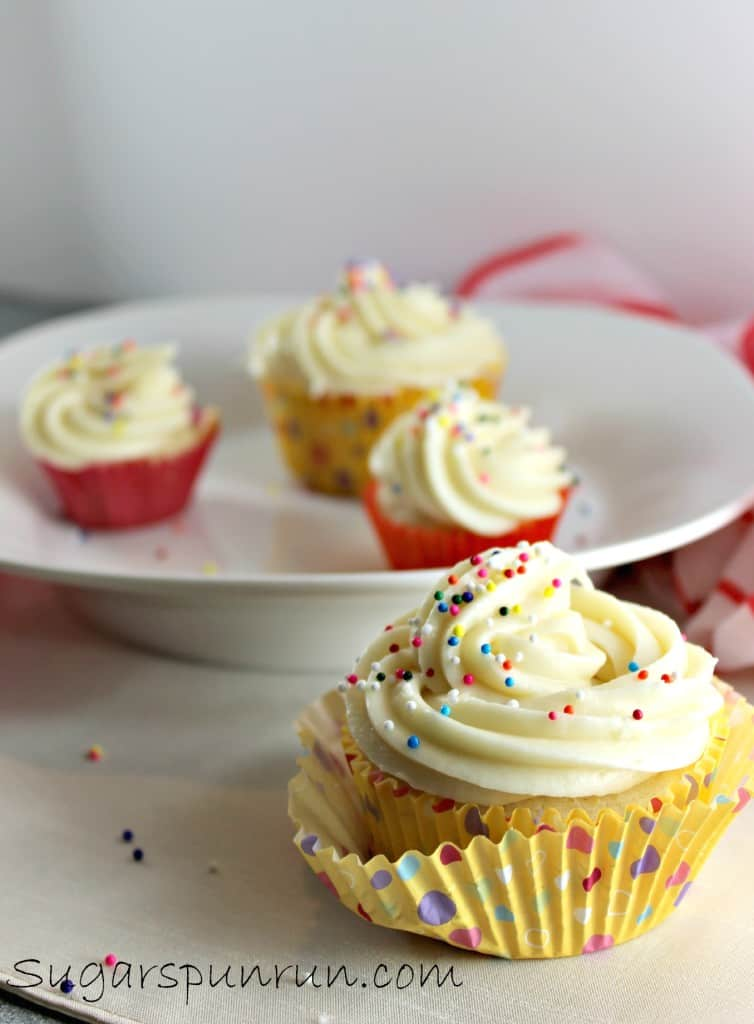 Perfect Vanilla Cupcakes with Caramel Flavored Icing