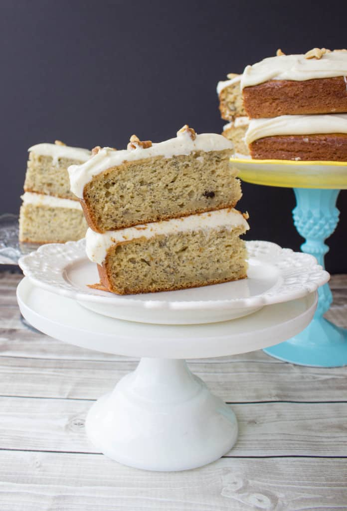 Banana Cake with Brown Sugar Cream Cheese Frosting-18