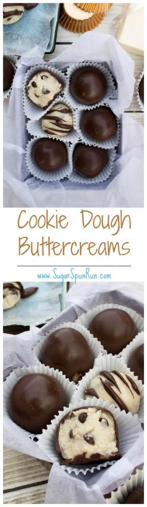 Cookie dough flavored buttercream candies, no bake! SugarSpunRun