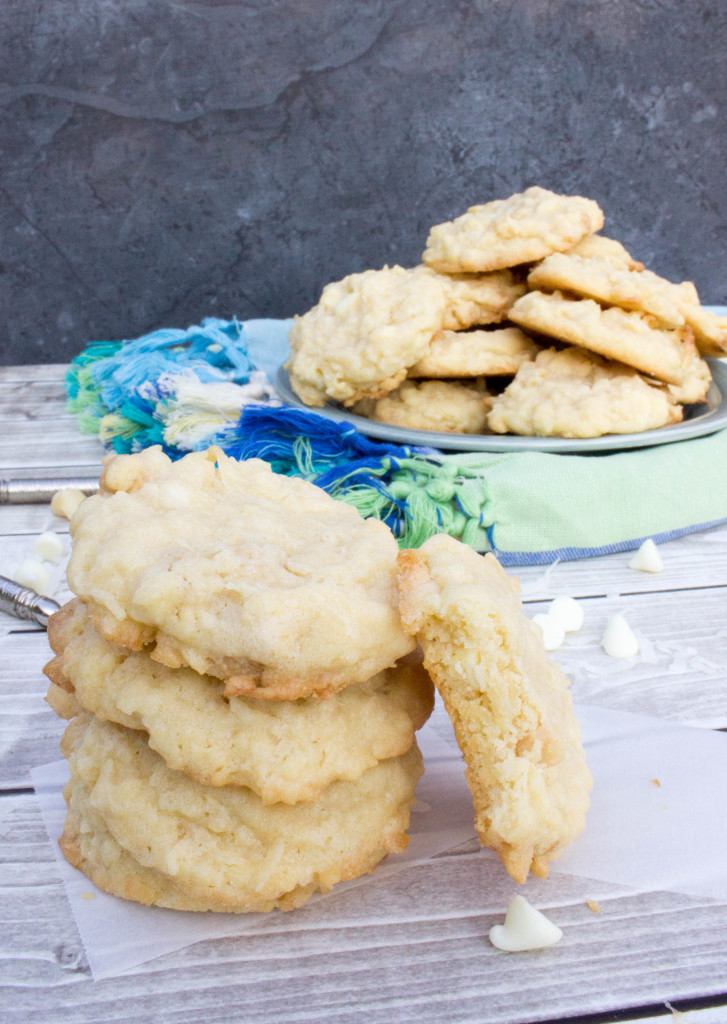 Island Cookies -Buttery soft cookies crammed with coconut, white chocolate chips, and crunchy macadamia nuts