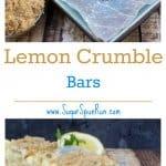 Lemon Crumble Bars  SugarSpunRun