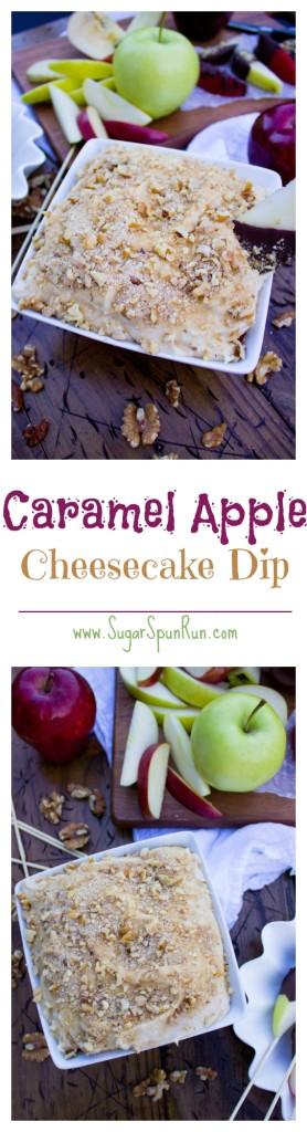 Caramel Apple Cheesecake Dip-- made with an easy 5 ingredient homemade caramel