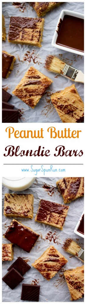 Oh-so-easy Peanut Butter Blondie Bars SugarSpunRun