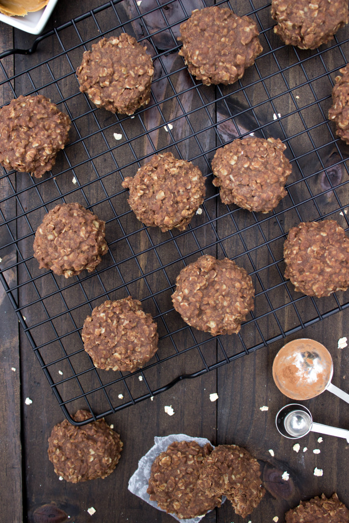 """Easy, no-bake chocolate peanut butter """"Quick Cookies"""". Grab the recipe over on The Plus Side!"""