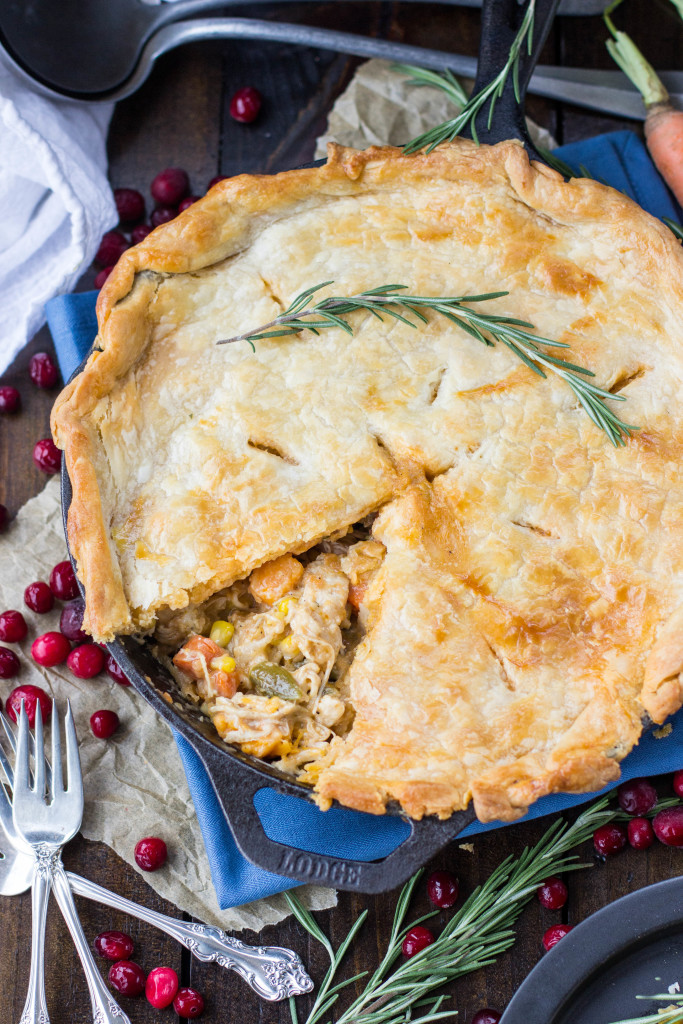 Turkey Pot Pie, great for using up leftover turkey from Thanksgiving -- www.SugarSpunRun.com