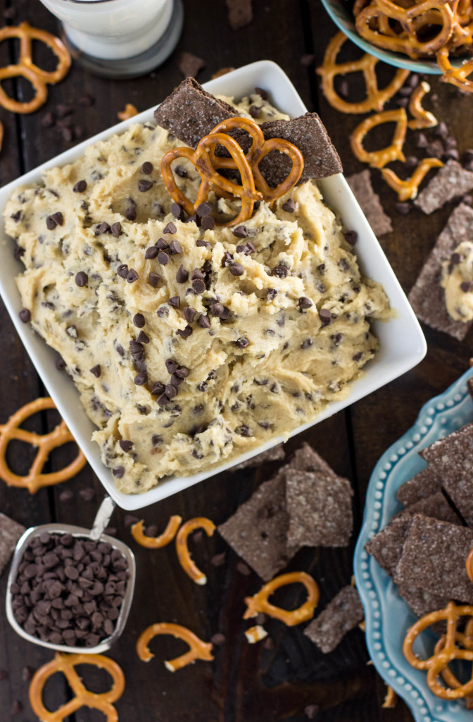 Easy Cookie Dough Dip -- No egg and no cream cheese in this recipe!
