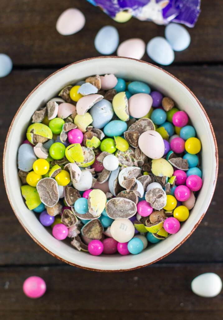 """""""Bunny Munch"""" made with leftover Easter Candy"""