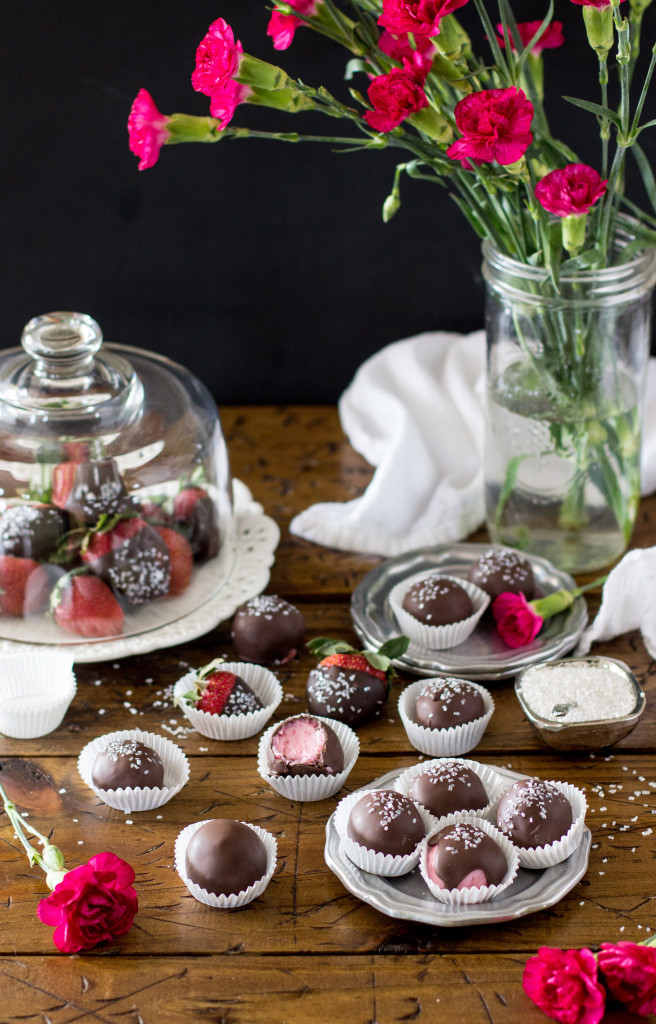 Chocolate Covered Strawberry Buttercream Candy Recipe -- SugarSpunRun
