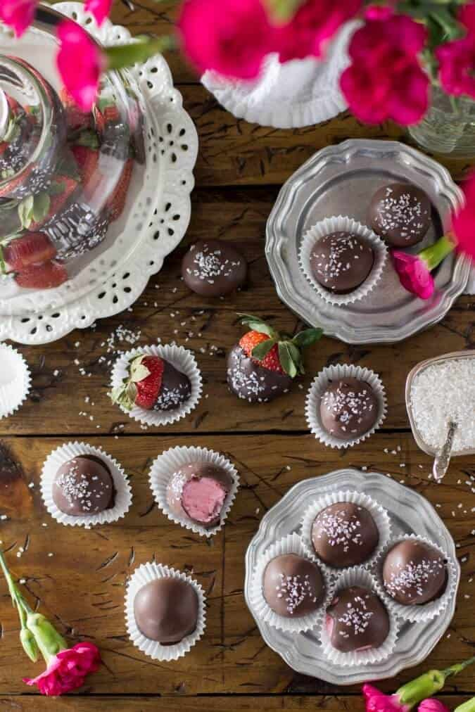 Chocolate Covered Strawberry Buttercream Candies