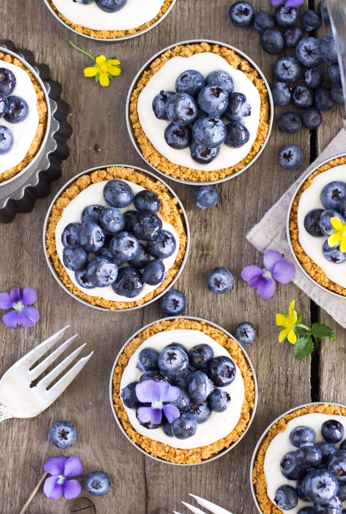 blueberry lemon tarts -- Sugar Spun Run