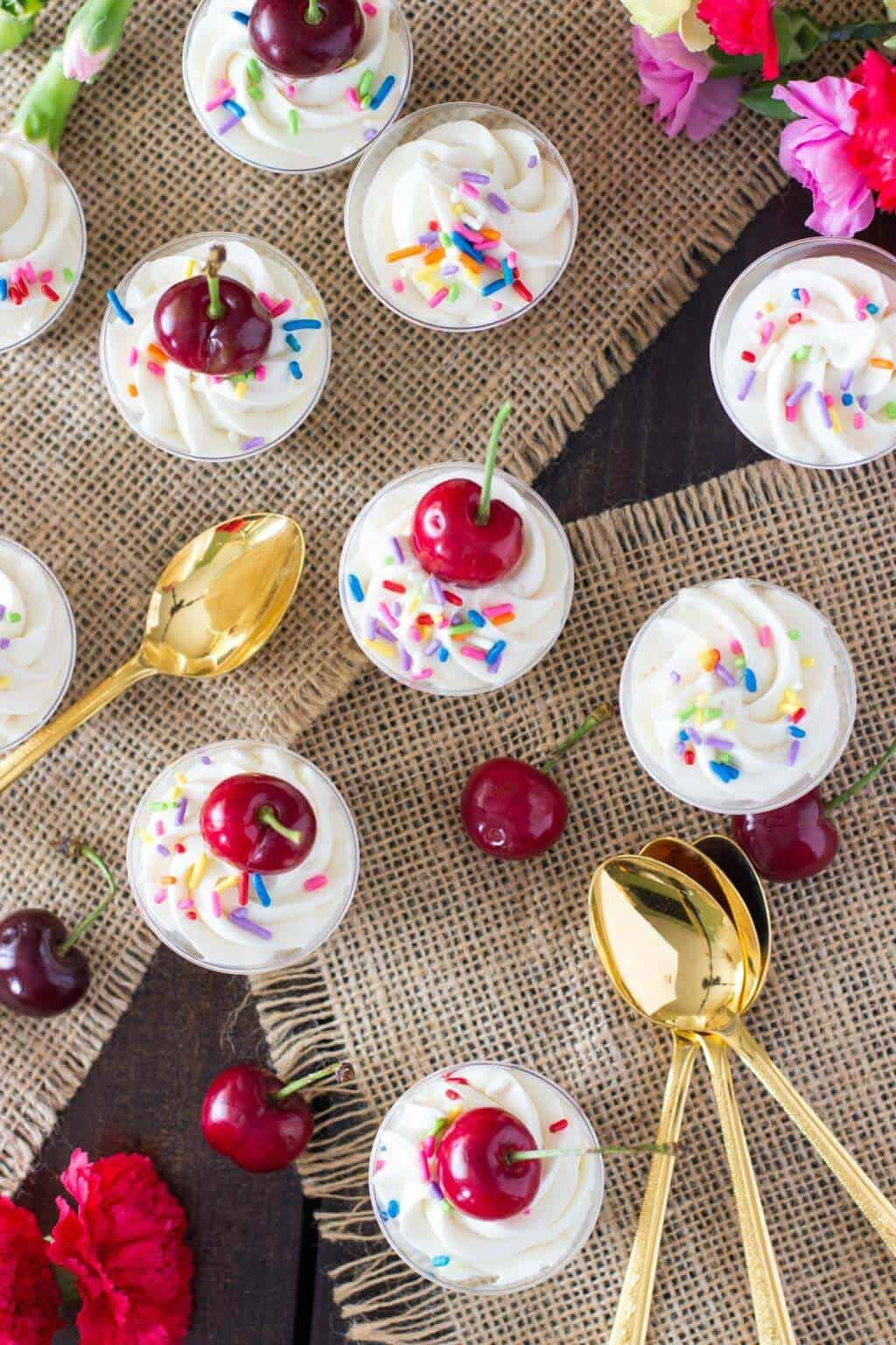 Cake Batter Cheesecake Dessert Shooters