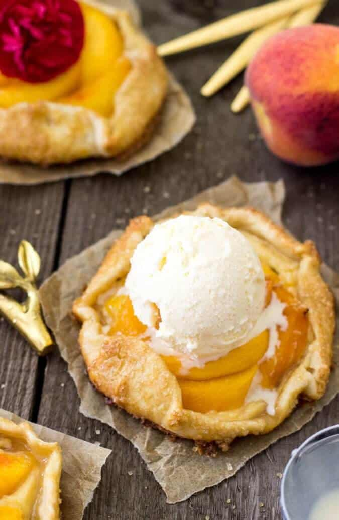 Mini Peaches & Cream Galettes