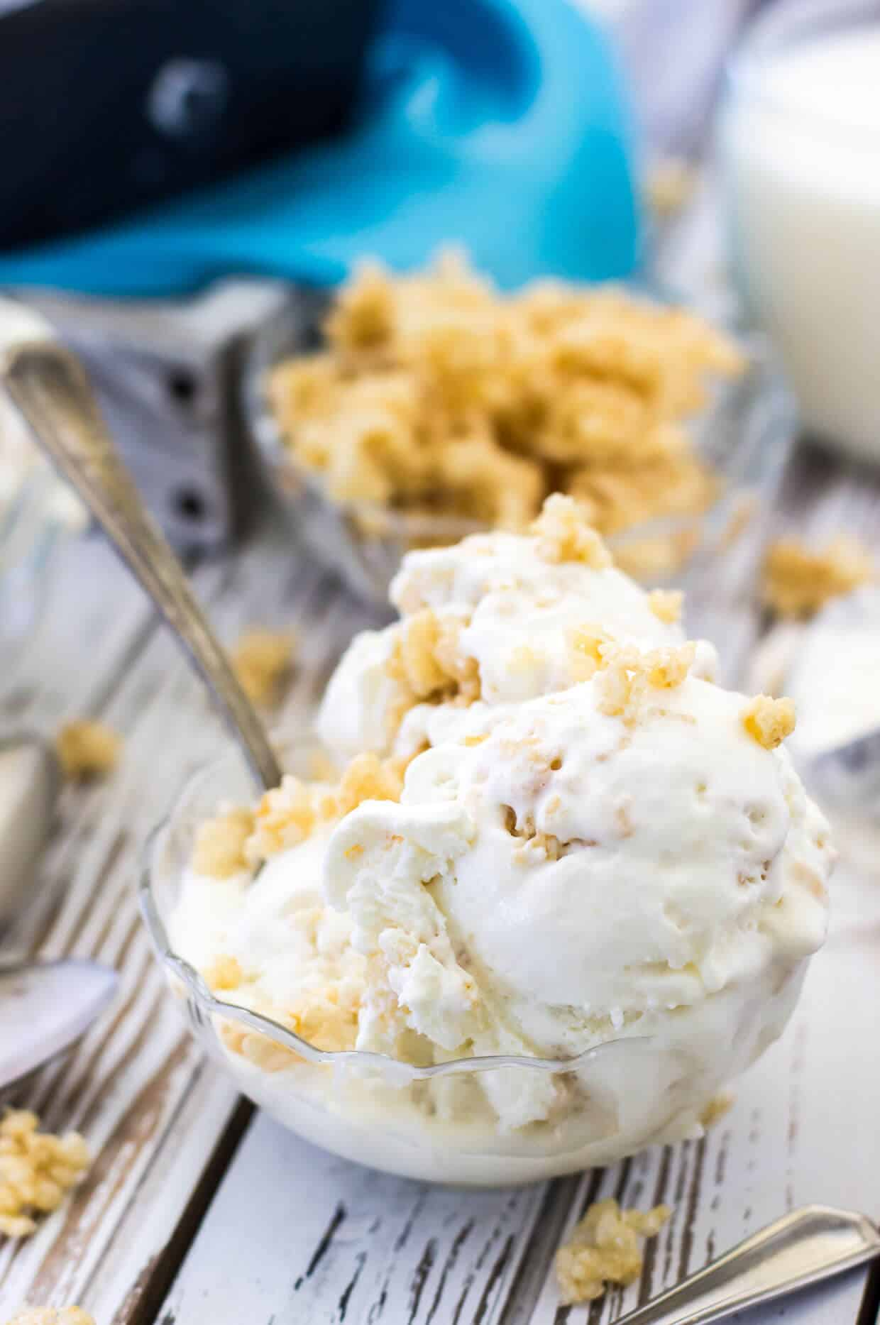 Rice Krispie Treat Ice Cream -- SugarSpunRun