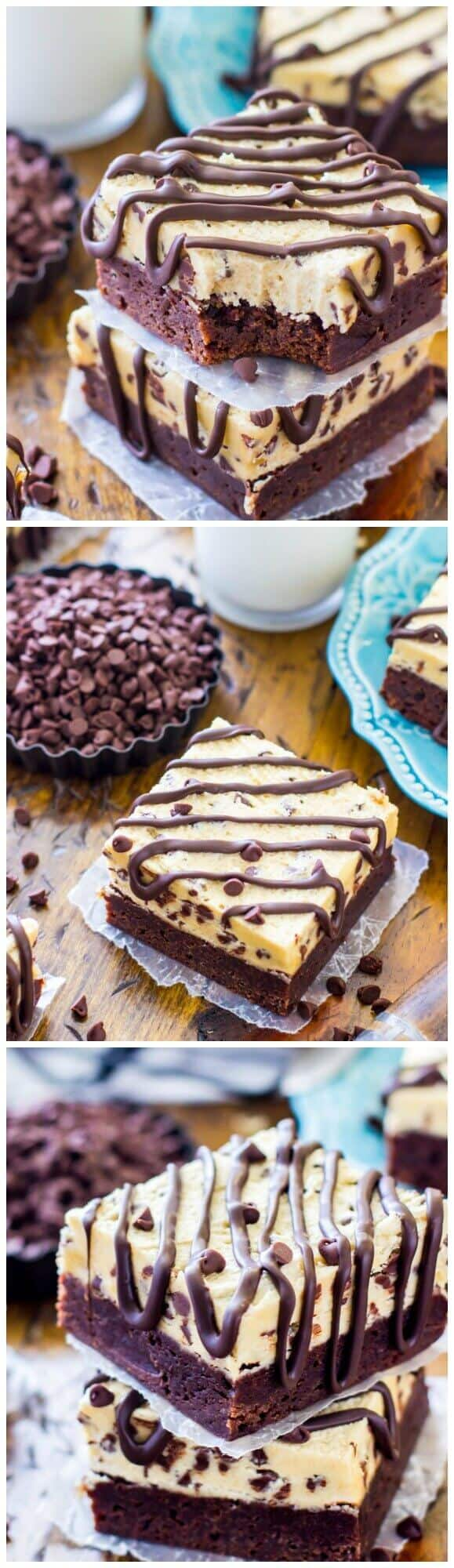 Cookie Dough Brownies -- OMG! My family can't get enough of these!