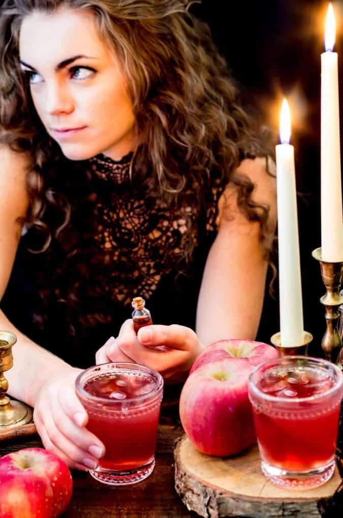 So she slipped him a potion into a drink, And sweetly she smiled and offered a sip.