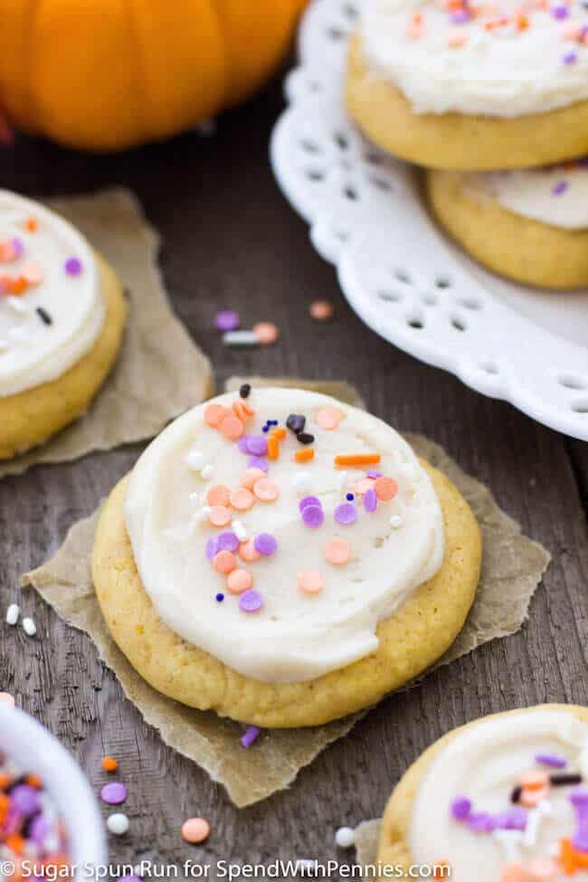 Lofthouse Style Pumpkin Cookies