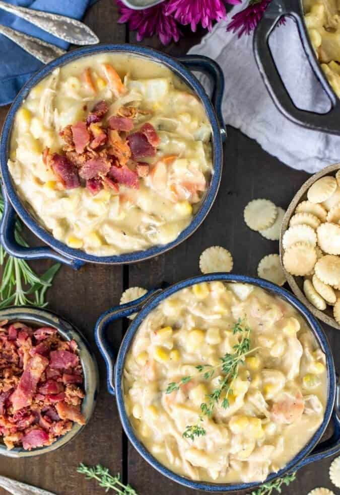 Turkey Chowder made with leftover turkey -- great for the days after Thanksgiving!